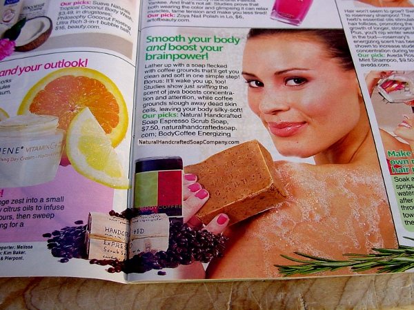 Women's World Magazine - coffee soap