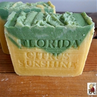 Florida Citrus Sunshine Soap with Mango Butter and Tangerines,  All Natural Skin Care Soap