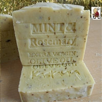 Limited Edition Organic Extra Virgin Greek Oil Peppermint And Rosemary  Natural  Soap Limited Edition