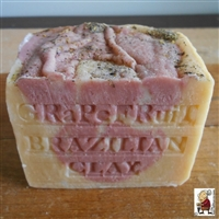 Aged Soap African Grapefruit with Moroccan and Brazilian Red Clay
